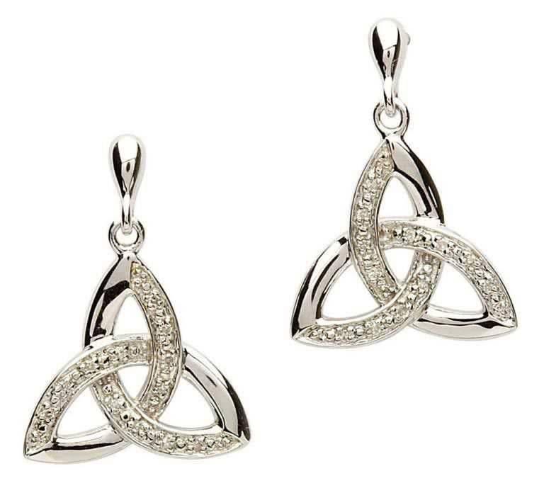 Earring: SS Trinity Diamond