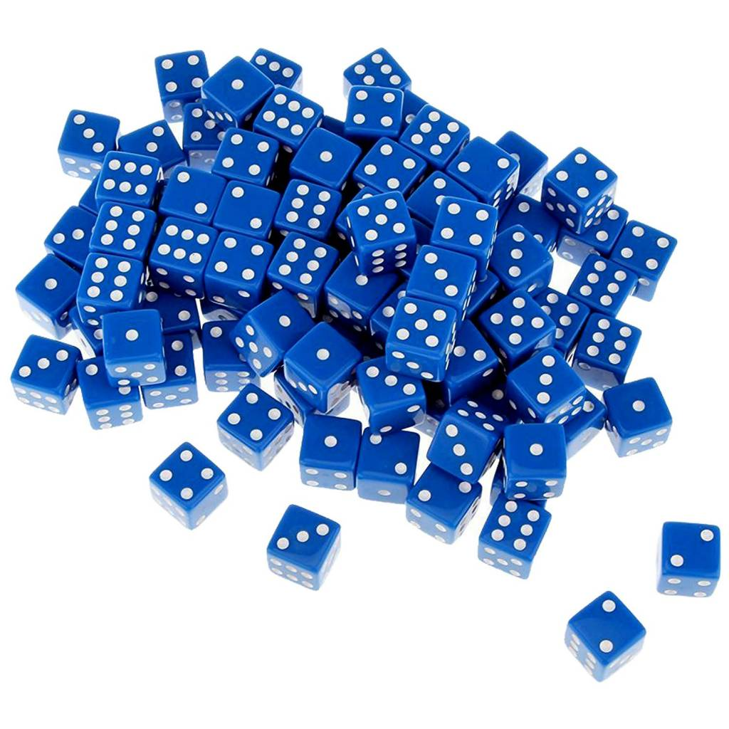 Dice: Scottish Saltire Blue, Standard