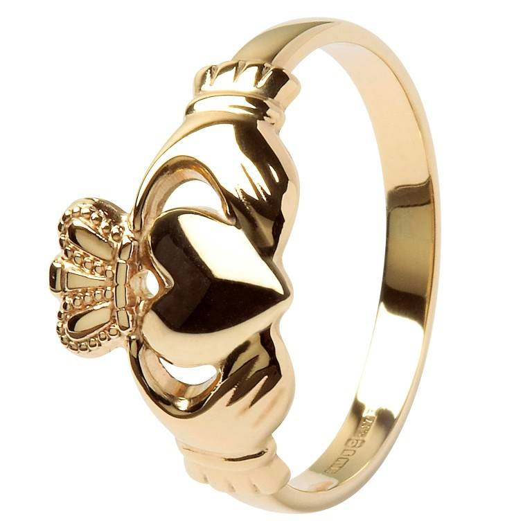 Shanore Ring: 10K Gold Claddagh
