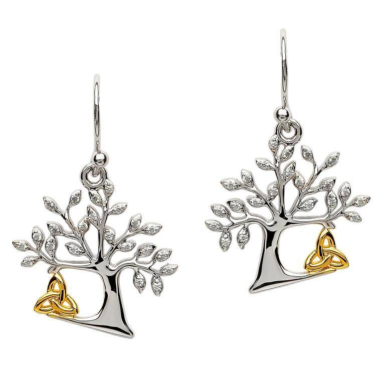 Earring: SS Tree of Life Trinity