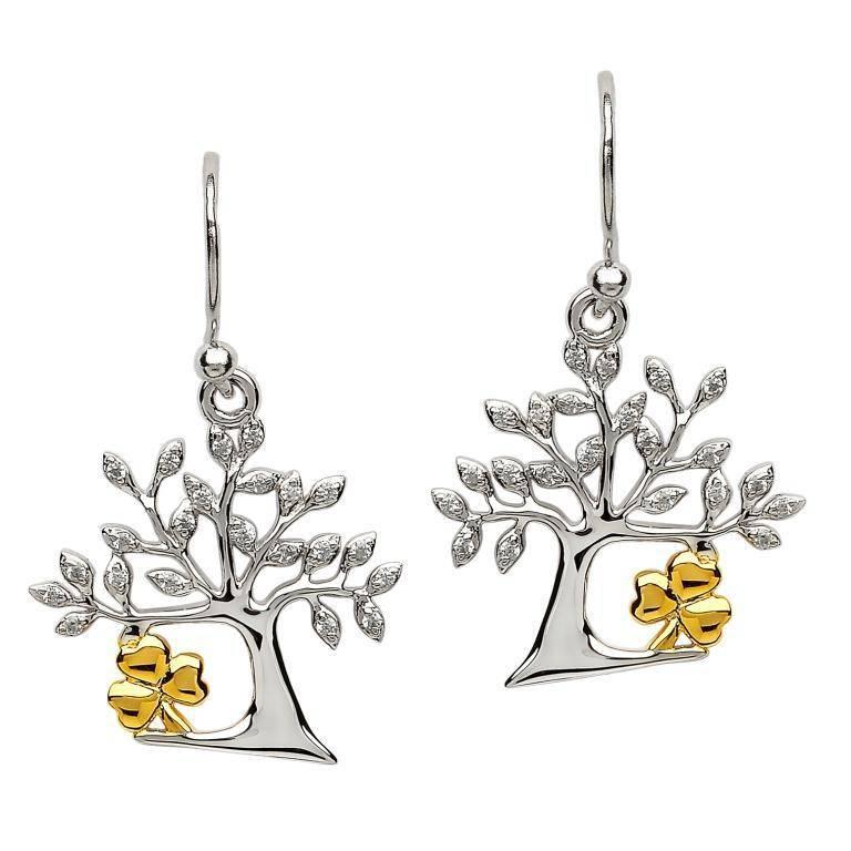 Earring: SS Tree of Life Shamrock