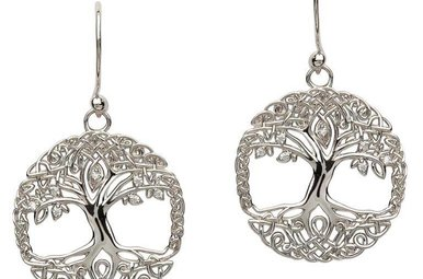 Earring: SS Tree of Life CZ