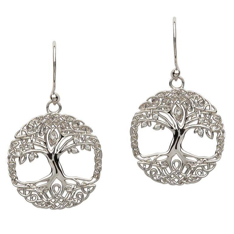Shanore Earring: SS Tree of Life CZ
