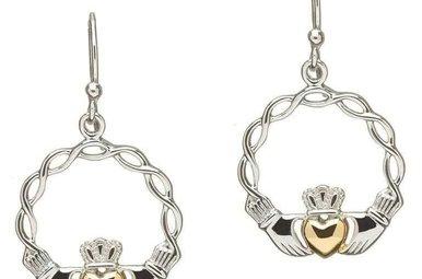 Earring: Sil G/P Claddagh Earrings