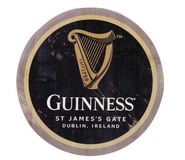 Guinness: Harp Wooden Bottle Top
