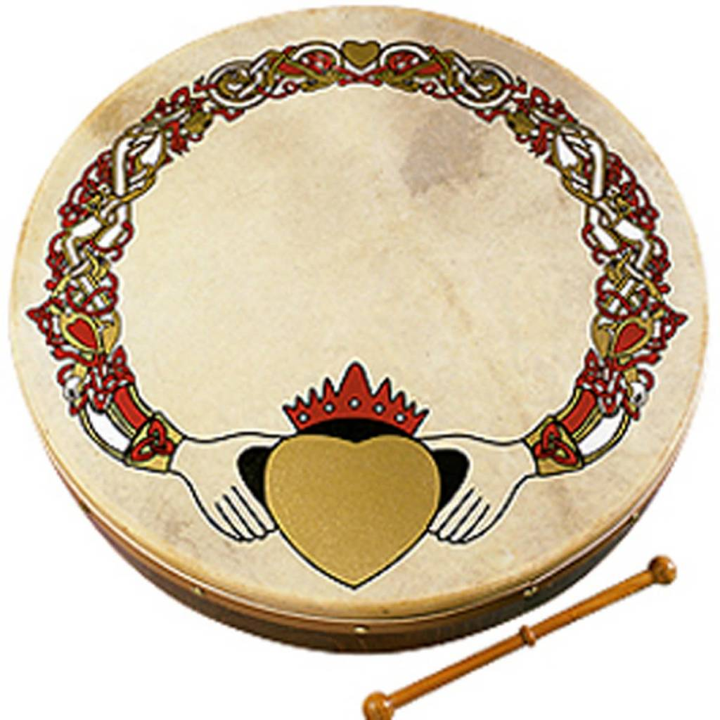 """Walton's Music Bodhran: 18"""" Claddagh"""