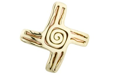 Brooch: St Bridgets Cross Copper 2 Tone
