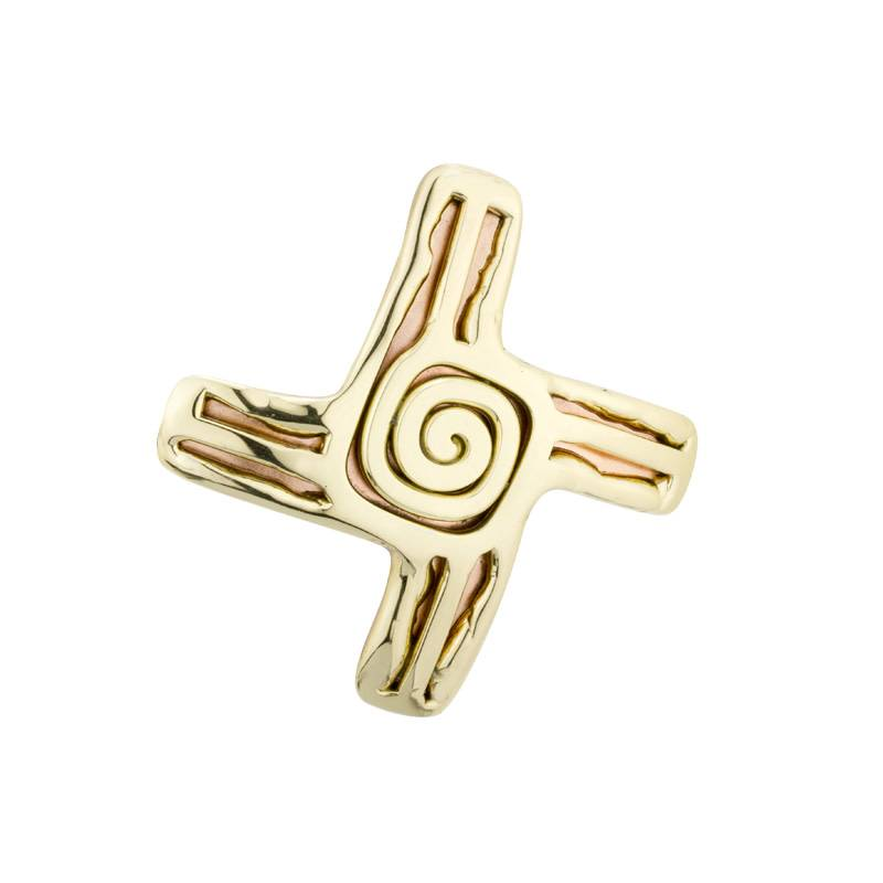 Brooch: St Bridgets Cross Copper 2 Tone