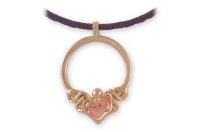 Pendant: Claddagh Copper Two Tone 24""