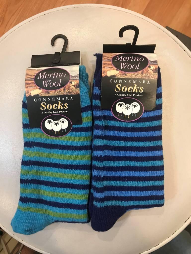 Socks: Connemara Marino Stripes (L)
