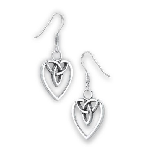 Earrings: SS Celtic Heart