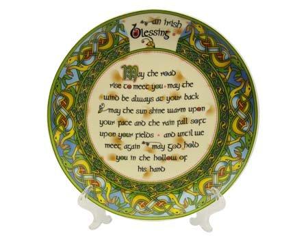 "Clara Plate: An Old Irish Bless, 8"""