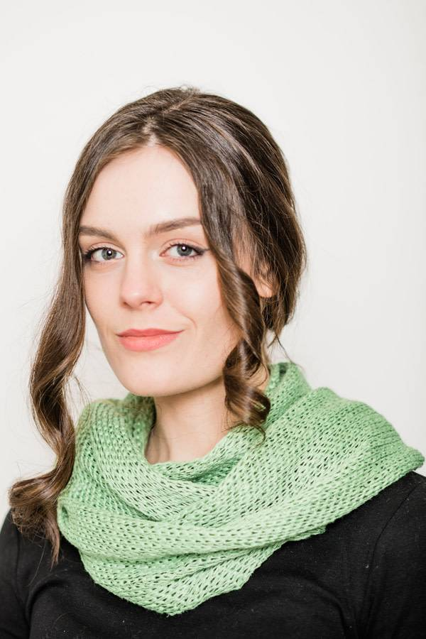 Snood: Orkeny Linen/Cotton Moss Green