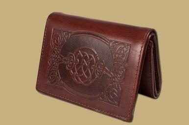 Wallet: Sean Tri Fold Brown Leather