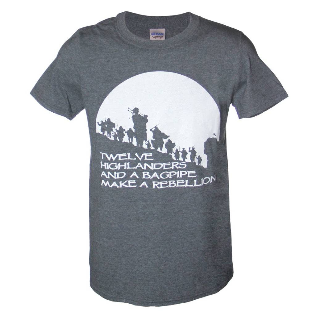 T Shirt: Mens Bagpipe Rebellion