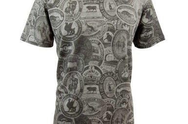Shirt: Vintage Guinness Label Tee, Grey