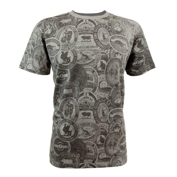 Guinness Shirt: Vintage Guinness Label Tee, Grey