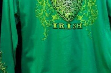 T Shirt: Long Sleeve Forever Irish