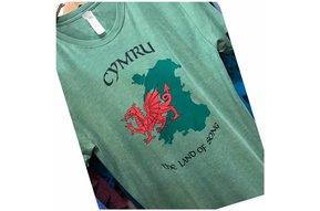 T Shirt: Mens Wales, Land of Song