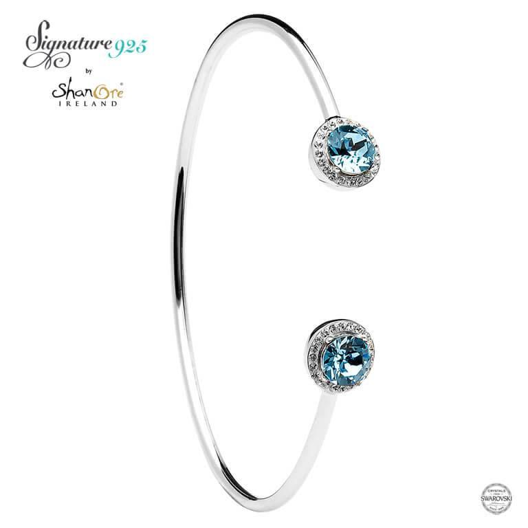 Bracelet: Bangle Halo Aqua