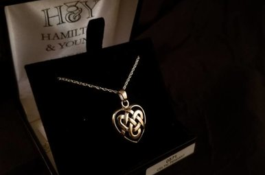 Pendant: Silver Celtic Heart