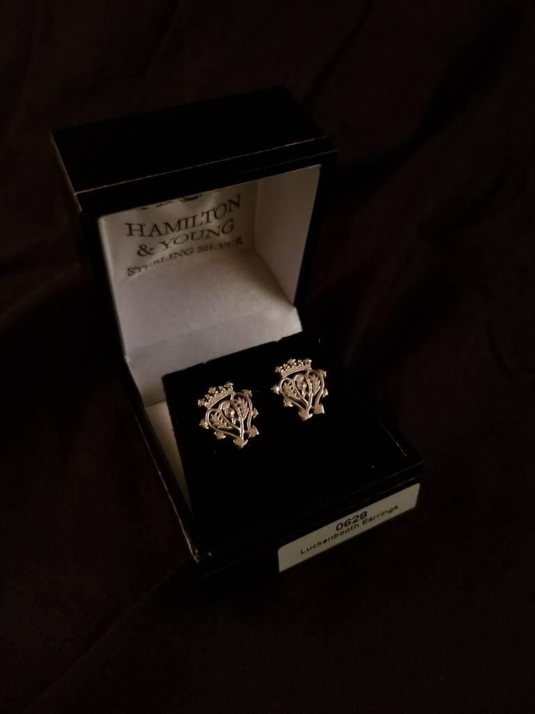 H & Y Earrings: Silver Luckenbooth Stud