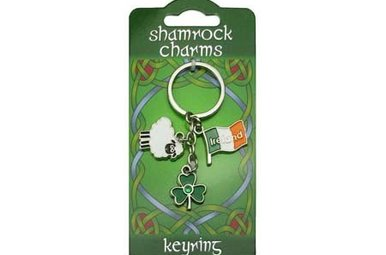 Keyring: Shamrock Sheep Charms