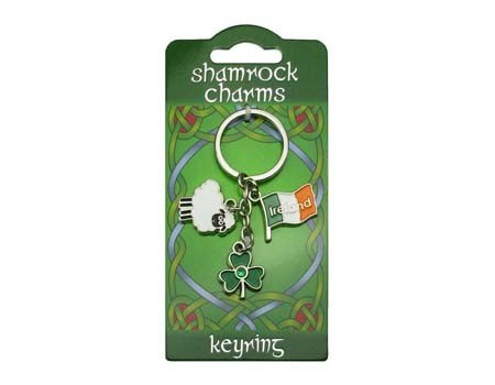 Clara Keyring: Shamrock Sheep Charms