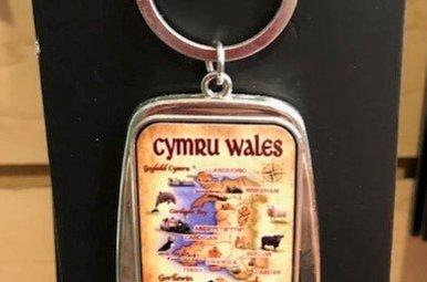 Keychain: Wales Map Bottle Opener