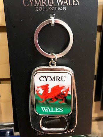 Keychain: Wales Flag Bottle Opener