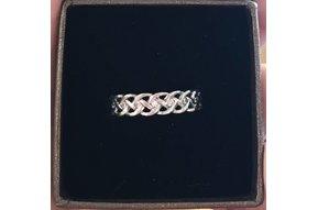 Ring: SS+CZ Wedding Eternity Braid