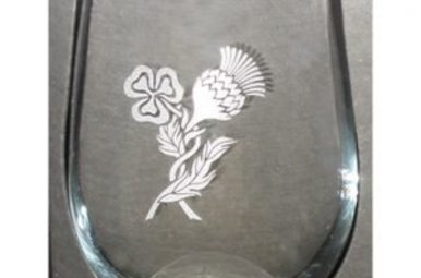 Glass: Stemless Wine 17 oz X4 ThSh