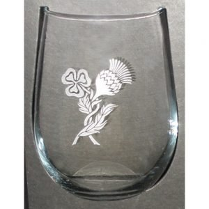 Glass: Stemless Wine 17 oz X4 ThSh