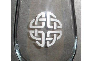 Glass: Stemless Wine 17 oz x 14 celtic knot