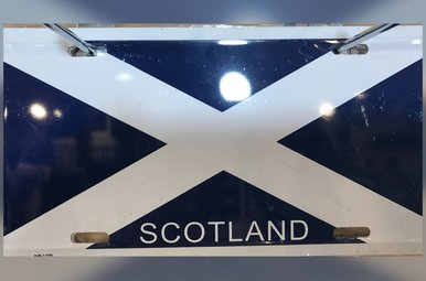 License Plate: Scotland St Andrews Cross