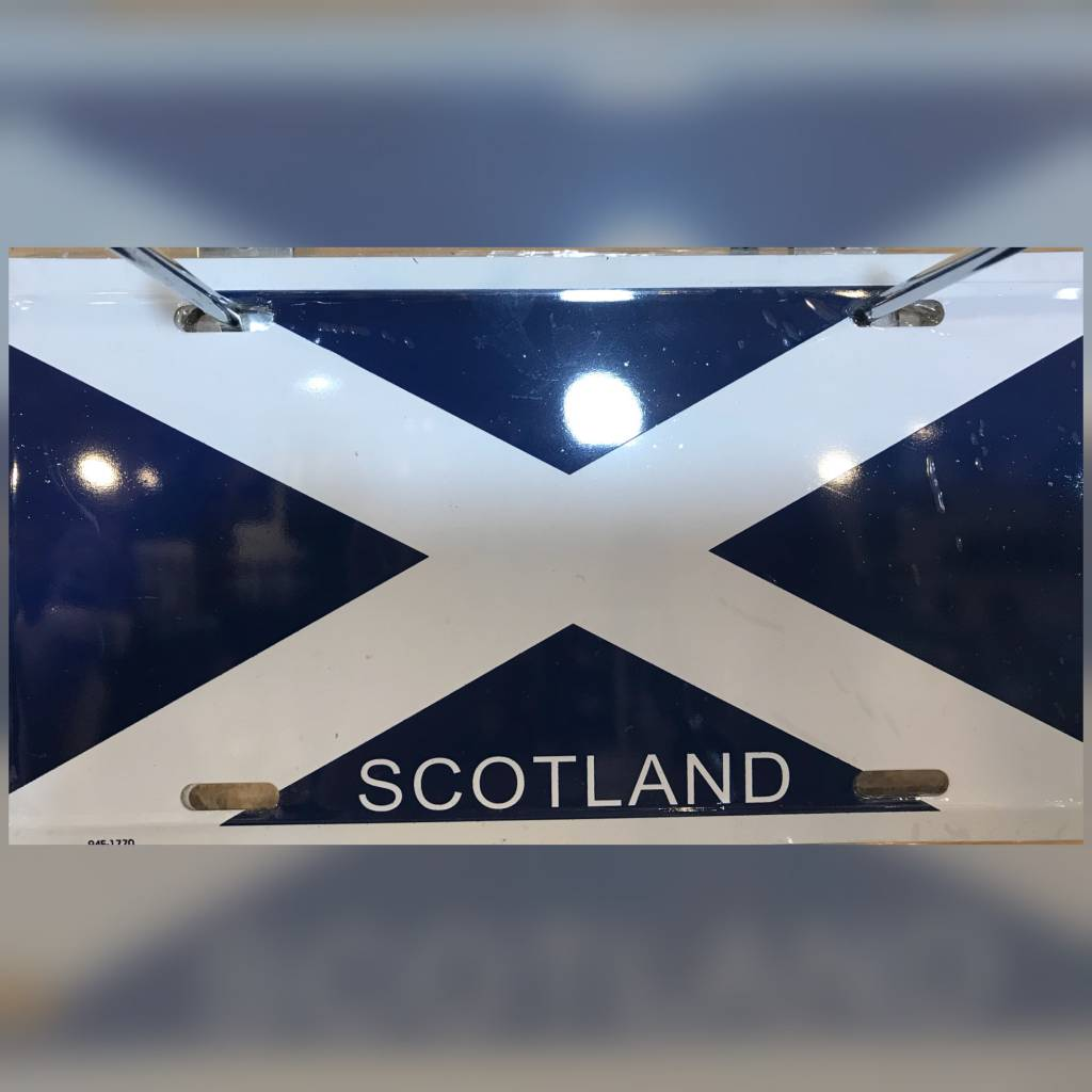 License Plate: Scotland St Andrews Cross