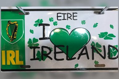 License Plate: (Heart) Ireland