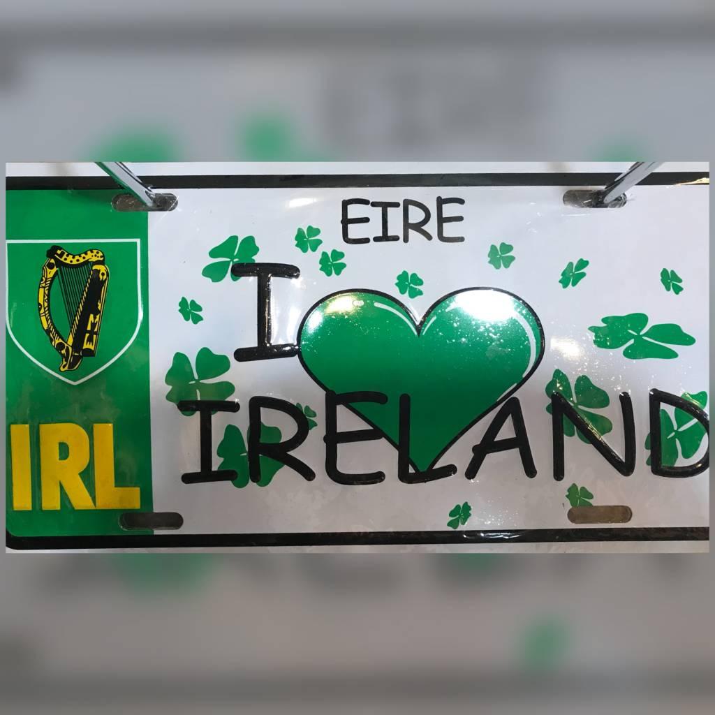 License Plate: (Heart) Ireland