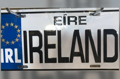 License Plate: IRELAND License Plate
