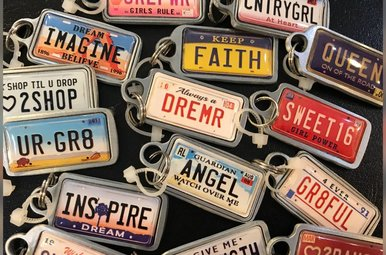 Keychain: License Plate Charms