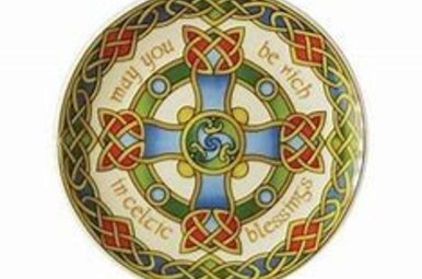 Plate: Celtic Weave Cross 8