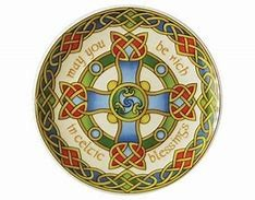 Royal Tara Plate: Celtic Weave Cross 8