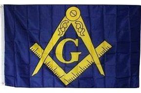 Flag: Masonic (B/G), Poly 3x5
