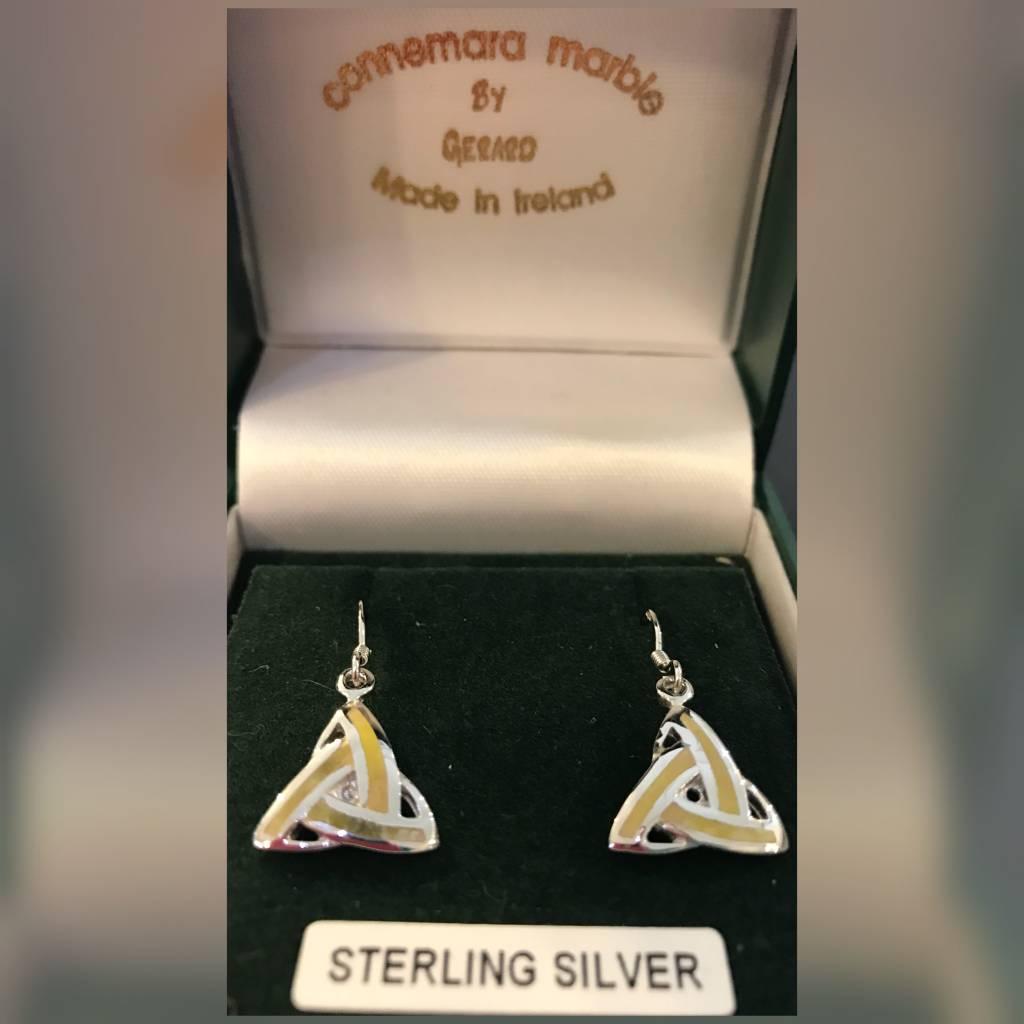 Earring: Connemara Marble Trinity TKEW