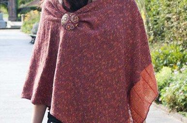Cape: Linen & Cotton Rust Bronze