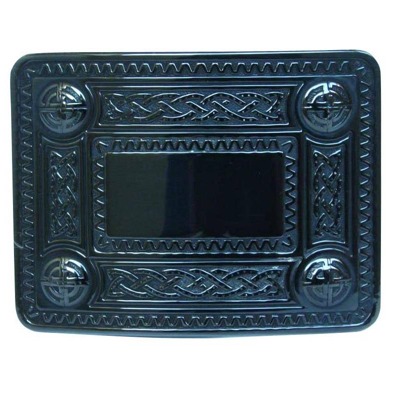 Glen Esk Buckle: Celtic Knot Black