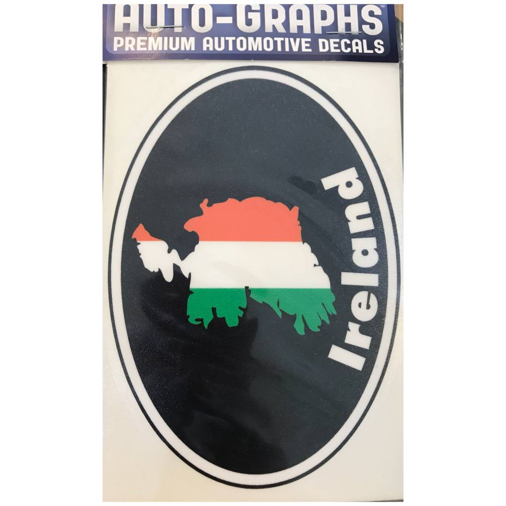 Sticker: Flag Country, Oval, Ireland