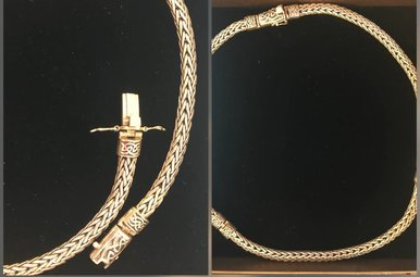Chain: Sterling Dragon Weave Hinged 20""