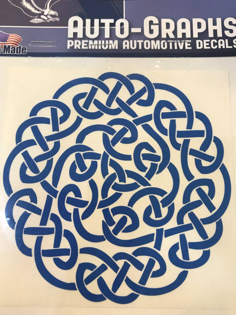 Sticker: Celtic Circle, Blue