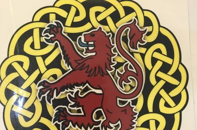 Sticker: Celtic Circle, Red Lion